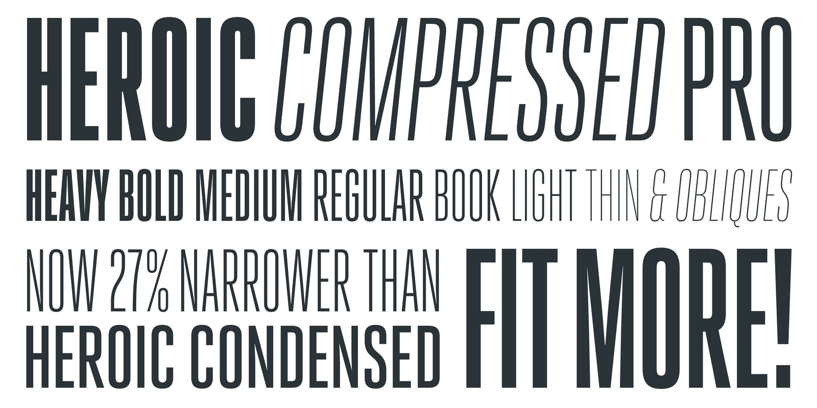 Heroic Compressed Pro by Silas Dilworth - TypeTrust